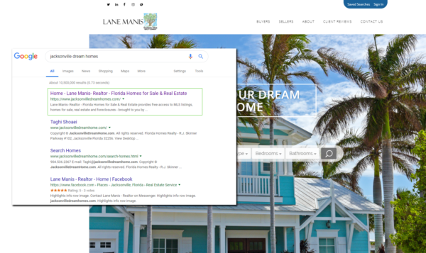 Real Estate Website SEO Example